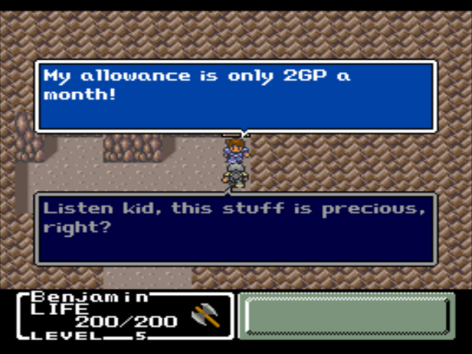 Mystic Quest Allowance