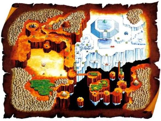 Mystic Quest World Map