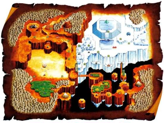 Mystic Quest World Map