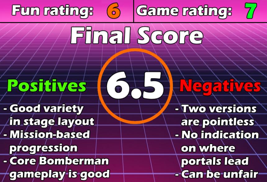 ReviewChart Bomberman Max